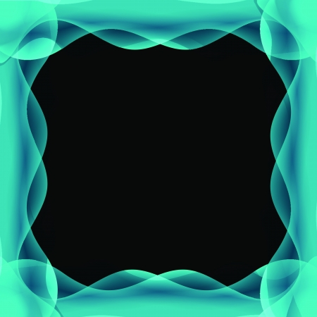 dimension: blue wave abstract border background . It like mystery dimension