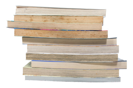old book put like layer with clipping path on white photo