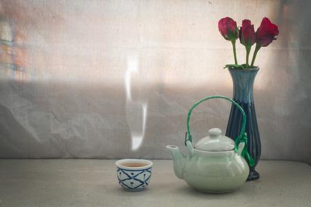 still life Tea pot aroma set  concept relax or medical