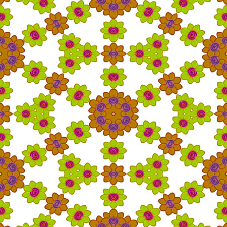 kaleidoscopic: flower Abstract seamless colorful wallpaper texture background Stock Photo