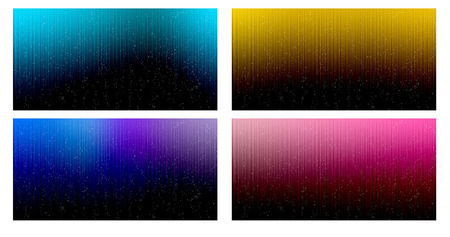 fallen: collection set of colorful background like aurora star fallen