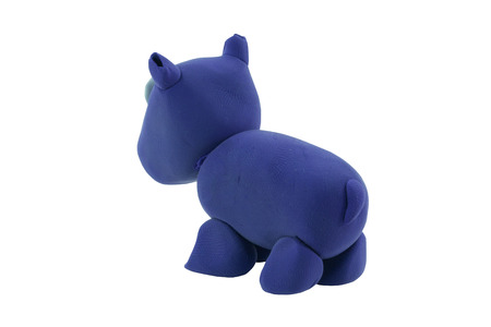 clipart: hippopotamus made from plasticine in concept wild life
