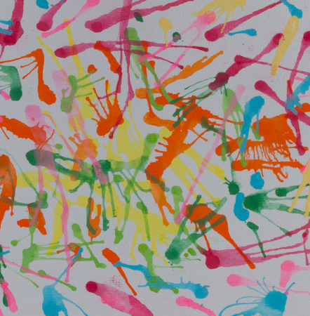 blowing: Abstract colorful water color blowing on white paper Stock Photo