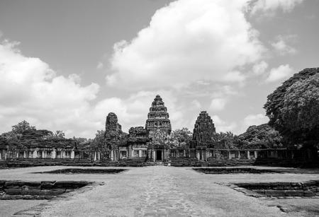 Prasat Hin Rock  in Phimai Historical Park Nakonratchasima Thailand