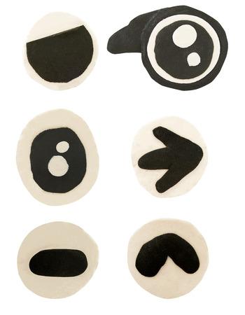 Set of eye made from plasticine on white background Banco de Imagens - 87562339