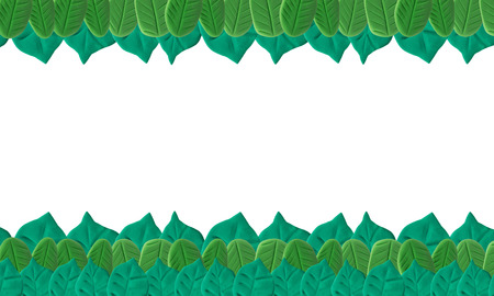 Leaf background on white made from plasticine