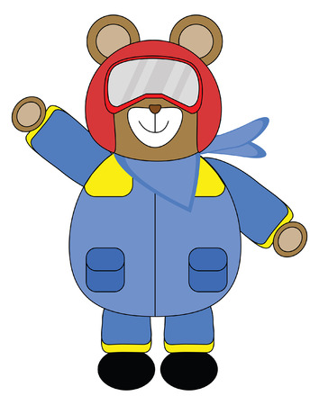 Bear in Racing or Pilot suit Illustration