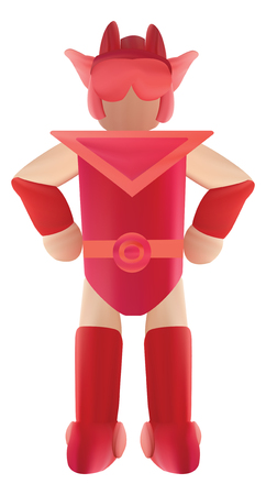 Red super hero art like plasticine vector design