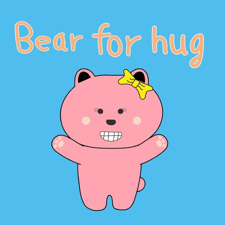 Cute bear for hug illustrator design Illustration