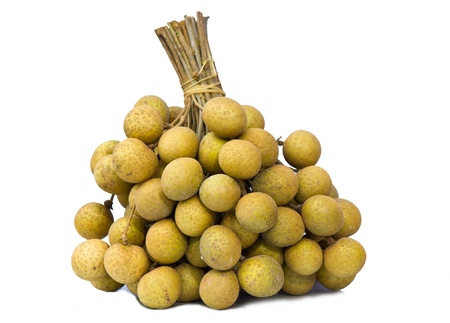 longan on the white background