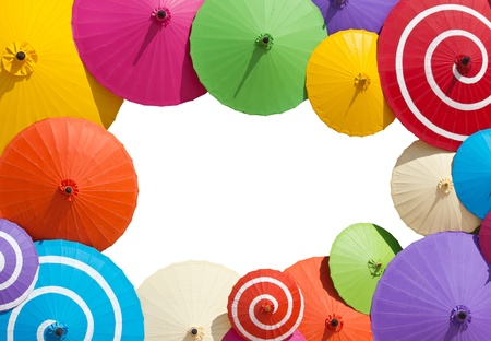 lluvia paraguas: colorido de umbrealla marco