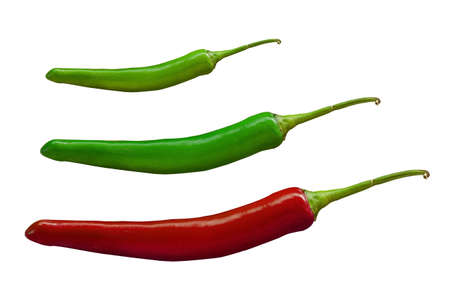 peper: hot chilli peppers isolated on white background Stock Photo