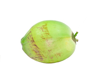 Green coconut Fruit isolated on white background photo