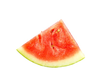 fresh watermelon isolated on white background photo