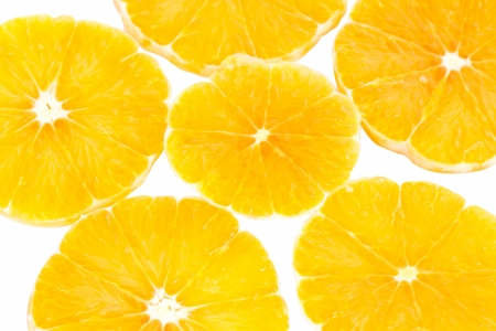 Fresh orange slice isolated on white background Stock Photo