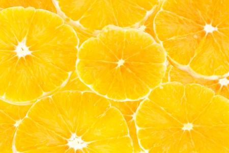 Fresh orange slice isolated on white background Stock Photo