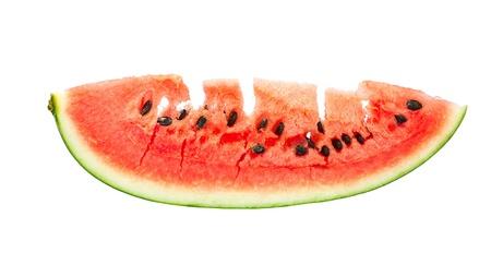 fresh sweet watermelon slice on white background Stock Photo