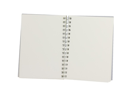 small notebook with blank on white background photo