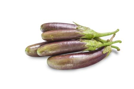 Fresh eggplants  aubergines  isolated on white background Stock Photo - 20461933