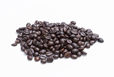 coffee beans isolated over white background photo