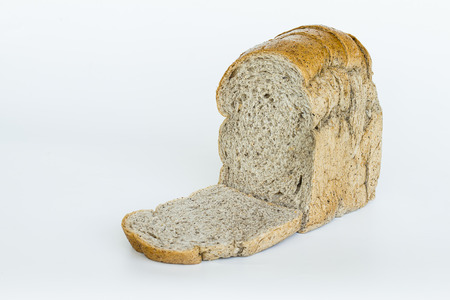 sliced bread, isolated on white background