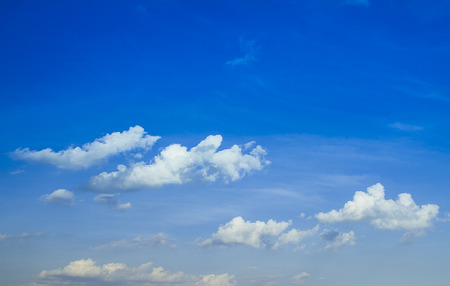 blue sky with clouds close-up Stock Photo