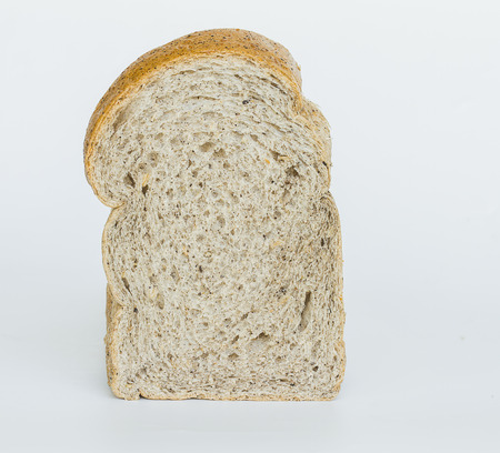 whole wheat bread, isolated on white background Stock Photo