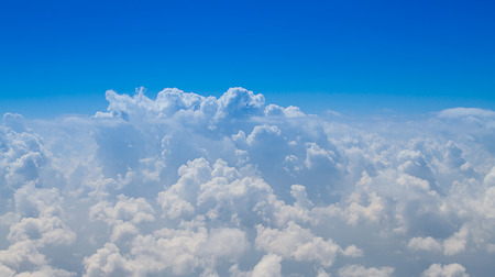 Cloudscape. Blue sky and white cloud, Cumulus cloud.