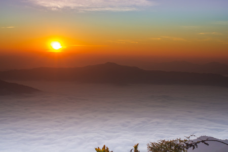 sunrise in the morning at Doi Pha Tang in Thailand