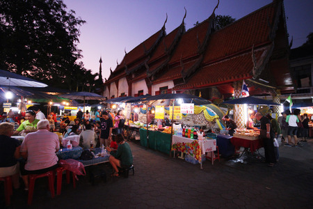 sunday market: Sunday market in temple CHIANG MAI, THAILAND