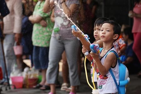 songkran: Songkran Festival at Thapae Road Chiangmai.