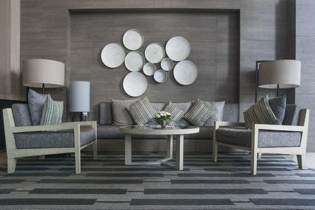 Ayutthaya, Thailand: October 25, 2016 Modern Reception with interior design at Classic Kameo Hotel Ayutthaya