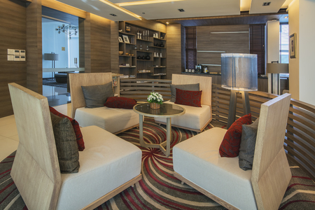 Ayutthaya, Thailand: October 25, 2016 Luxury Executive lounge with interior design at Classic Kamel Hotel Ayutthaya