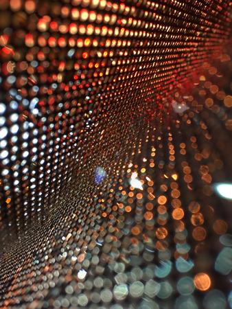 Beautiful Abstract bokeh lighting on blurred background Stock Photo