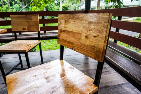 Wooden chair table