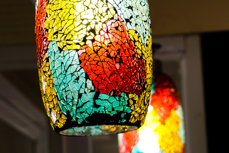 Colorful lamps for ornamental shops.