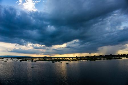 Lake, long corridors, beautiful sky