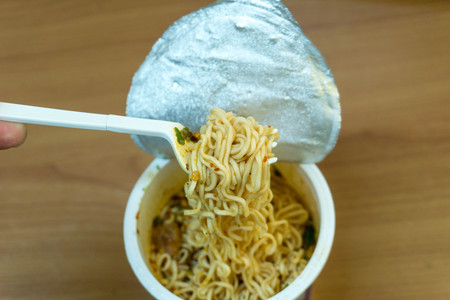 Instant noodle cup Stock Photo