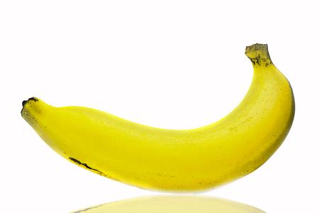 Ripe banana  on white background. Standard-Bild