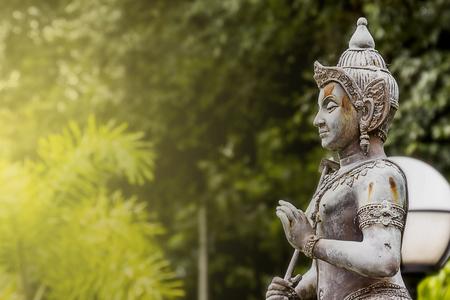 Vishnu is the god of Hinduism. Stock Photo