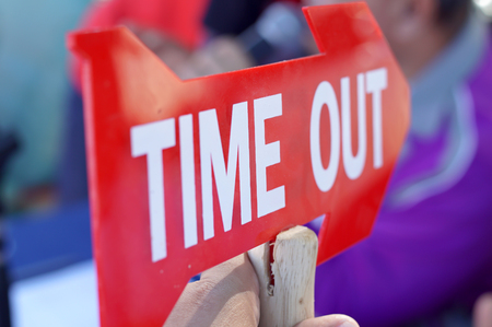 Time out sign sport.          Stock Photo