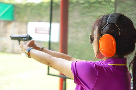 Shooting and shelling, the concept of using her gun.
