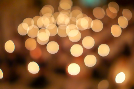 abstact Bokeh  Candlelight background.