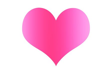 Pink heart on a white background and can be separated from the white background.