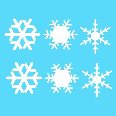 snow flake pattern texture background Ilustracja