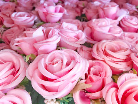 Photos from artificial roses used for making backgrounds