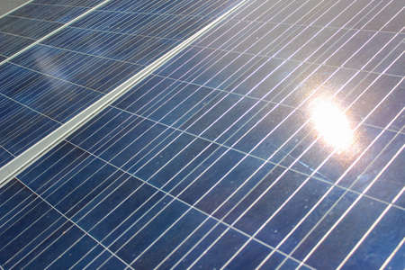 Solar cells are good energy for the environment. Stock fotó