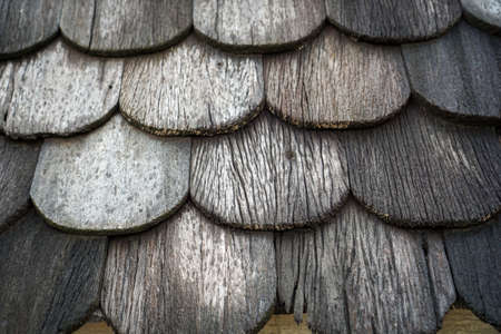 Background blur,Old wooden roofs that are stacked on top of each other Zdjęcie Seryjne