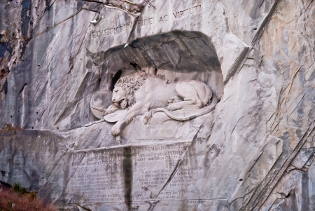 Photo of lion monument in Lucerne, Switzerland photo