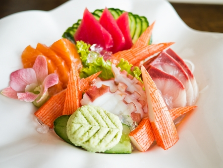 Japanese dishes - sashimi photo